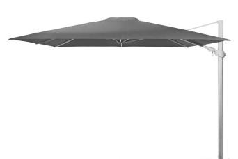 4 Seasons Outdoor | Zweefparasol Siesta Premium 300 x 300 cm | Wit-Charcoal 757729-31