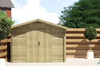 Gartenhaus / Blockhütte Fonteyn Alicia Satteldach 250 Hochdruck Imprägniert 300 x 250 cm 200078-31