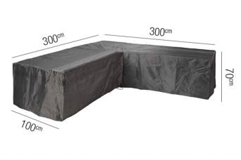 Loungesethoes AeroCover Platinum L-vorm 300 x 300 cm