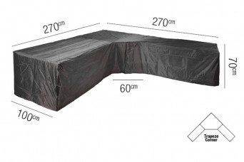 Loungesethoes AeroCover Platinum L-vorm Trapeze 270 x 270 cm