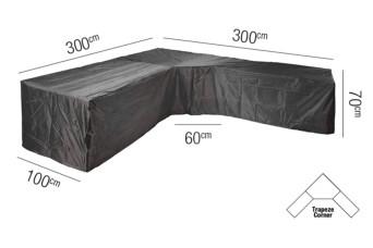 Loungesethoes AeroCover Platinum L Trapeze 300 x 300 cm