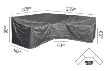 Loungesethoes AeroCover Platinum L-vorm Trapeze 255 x 255 cm