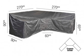 Loungesethoes AeroCover Platinum 270 x 270 L-vorm Trapeze