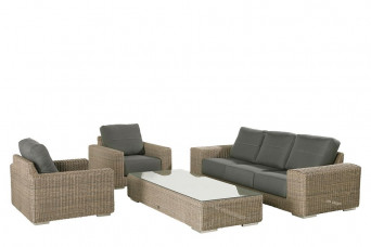 Loungeset Kingston | Pure Wicker Vlechtwerk | 4 Seasons Outdoor
