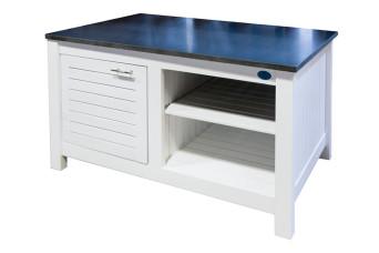 Außenküche Modul Fonteyn Schrank Fresh White / Teak Braun 110 x 62 x 60 cm 500021-31