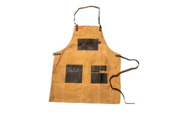 Traeger   BBQ Schort Bruin  Canvas en Leer 502918-31