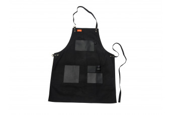Traeger   BBQ Schort Zwart  Canvas en Leer 502916-31