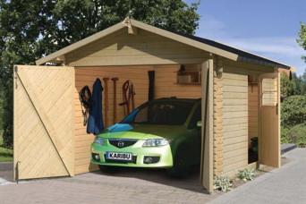 2-bay Garage eiken exclusieve tuinhuizen met veranda 130001219-30