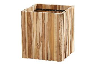 4 Seasons Outdoor | Plantenbak Miguel Teak 45 x 45 cm | Hoogte 50 cm 759100-31