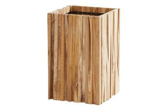 4 Seasons Outdoor | Plantenbak Miguel Teak 45 x 45 cm | Hoogte 70 cm 759101-31