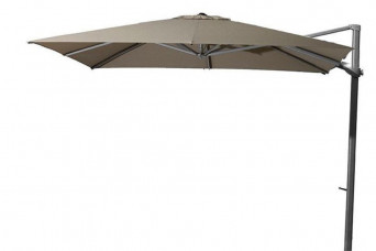 4 Seasons Outdoor | Zweefparasol Siesta 300 x 300 cm | Antraciet-Taupe 750247-31
