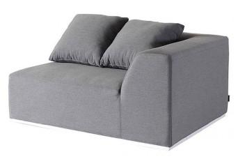 Fonteyn   Loungebank 2-zits Links Buddha   Grey Flanelle 701259-31