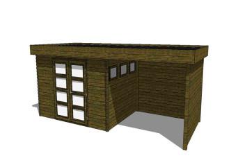 Fonteyn Gartenhaus/Blockhütte Module 700 x 300 271974-31