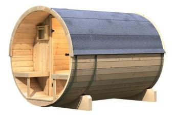 Buitensauna Barrel 2 | Karibu | Uniek Design | Buiten sauna