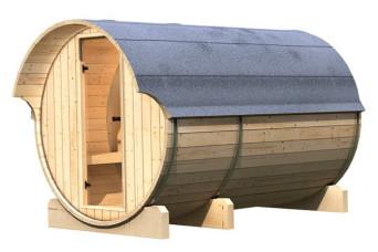 Buitensauna Barrel 3   Karibu   Uniek design   Sauna   buiten sauna