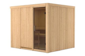 Karibu   Sauna Gobin   Deur Antracietglas 401746-31