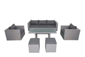 Fonteyn | Loungeset met Hoge Tafel Salou | Dark Grey 759716-31