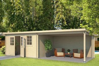 Outdoor Life Products | Tuinhuis met Overkapping Aida 760 x 275 210404-31