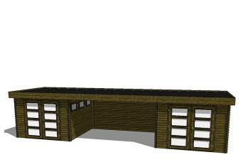 Gartenhaus/Blockhütte Fonteyn Module 1000 x 300 FMB3030FMB3030L400W400-31
