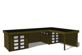 Gartenhaus/Blockhütte Fonteyn Module 1000 x 700 FMBMW2-31
