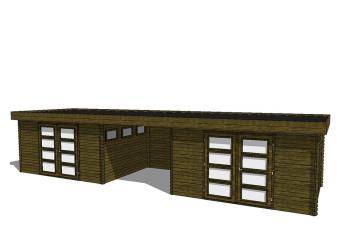 Gartenhaus/Blockhütte Fonteyn Module 1050 x 300 FMBMW13-31