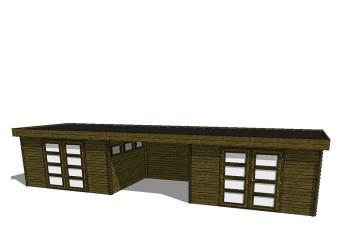 Gartenhaus/Blockhütte Fonteyn Module 1100 x 300 FMBMW14-31