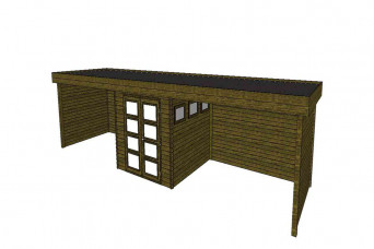 Gartenhaus/Blockhütte Fonteyn Module 1100 x 300 FMBMW5-31
