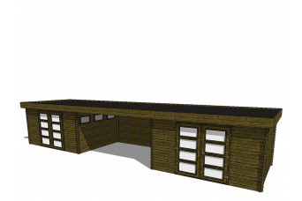 Gartenhaus/Blockhütte Fonteyn Module 1200 x 300 FMBMW15-30