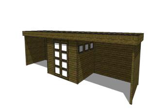 Gartenhaus/Blockhütte Fonteyn Module 1200 x 300 FMBMW8-31