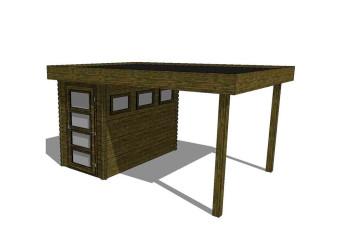 Gartenhaus/Blockhütte Fonteyn Module 400 x 300 FMB1530L250-31