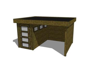 Gartenhaus/Blockhütte Fonteyn Module 400 x 300 FMB1530L250W250W300-31