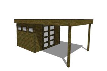 Gartenhaus/Blockhütte Fonteyn Module 400 x 600 FMBMW12-31