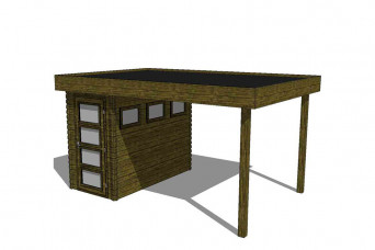 Gartenhaus/Blockhütte Fonteyn Module 450 x 300 FMB1530L300-31