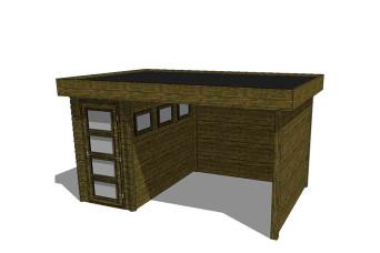Gartenhaus/Blockhütte Fonteyn Module 450 x 300 FMB1530L300W300W300-31
