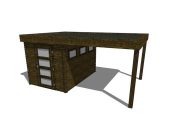 Gartenhaus/Blockhütte Fonteyn Module 450 x 300 FMB2030L250-31