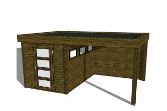 Gartenhaus/Blockhütte Fonteyn Module 450 x 300 FMB2030L250W250-31