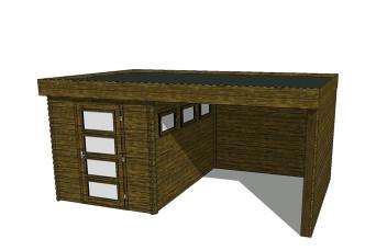 Gartenhaus/Blockhütte Fonteyn Module 450 x 300 FMB2030L250W250W300-31