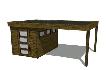 Gartenhaus/Blockhütte Fonteyn Module 500 x 300 FMB2030L300-31