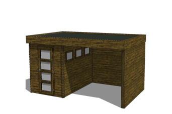 Gartenhaus/Blockhütte Fonteyn Module 500 x 300 FMB2030L300W300W300-31