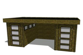 Gartenhaus/Blockhütte Fonteyn Module 550 x 300 FMB1530FMB1530L250W250-31