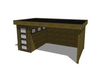 Gartenhaus/Blockhütte Fonteyn Module 550 x 300 FMB1530L400W400W300-31