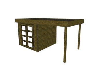 Gartenhaus/Blockhütte Fonteyn Module 550 x 300 FMB3030L250-31