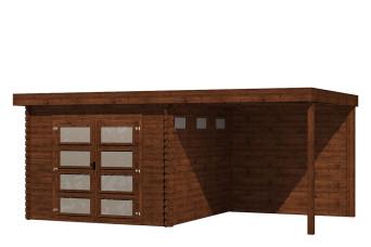 Gartenhaus/Blockhütte Fonteyn Module 550 x 300 FMB3030L250W250-31