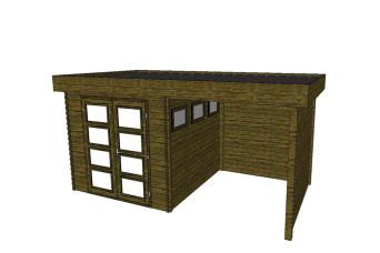 Gartenhaus/Blockhütte Fonteyn Module 550 x 300 FMB3030L250W250W300-31