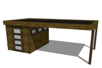 Gartenhaus/Blockhütte Fonteyn Module 600 x 300 FMB2030L400-31