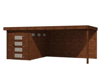 Gartenhaus/Blockhütte Fonteyn Module 600 x 300 FMB2030L400W400-31