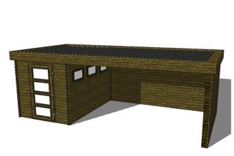 Gartenhaus/Blockhütte Fonteyn Module 600 x 300 FMB2030L400W400W300-31