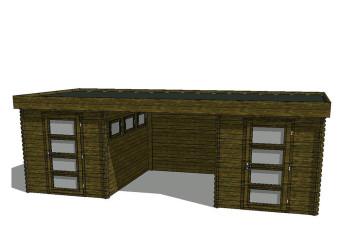 Gartenhaus/Blockhütte Fonteyn Module 650 x 300 FMB2030FMB2030L250W250-31