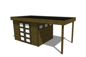 Gartenhaus/Blockhütte Fonteyn Module 650 x 300 FMB4030L250-31