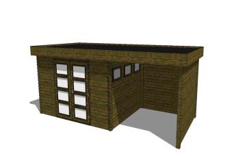 Gartenhaus/Blockhütte Fonteyn Module 650 x 300 FMB4030L250W250W300-31